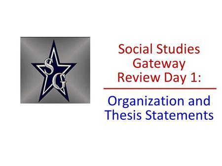 industrialization thesis statements
