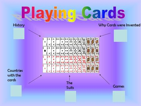 History Countries with the cards The Suits Games Why Cards were Invented.