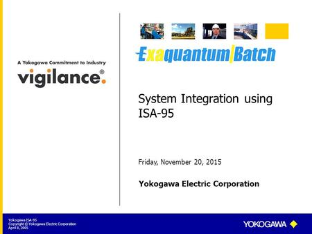 System Integration using ISA-95