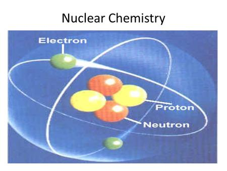 Nuclear Chemistry. Nuclear Chemistry Objectives Students will be able to identify what radioisotopes are and why they undergo radioactivity. Students.