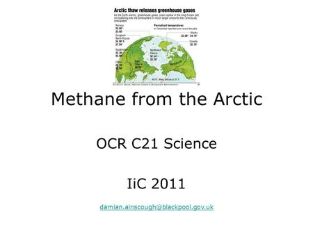 Methane from the Arctic OCR C21 Science IiC 2011