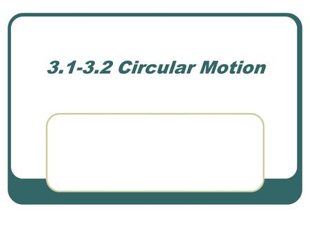 3.1-3.2 Circular Motion. Let's take a look at your diagram During your investigation, you might have noticed a few things when you released the stopper.