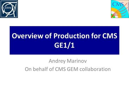 Overview of Production for CMS GE1/1