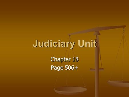 Judiciary Unit Chapter 18 Page 506+. Vocabulary Section 1 1. Exclusive jurisdiction 2. Concurrent jurisdiction 3. Plaintiff 4. Defendant 5. Original jurisdiction.