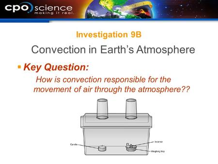 Investigation 9B  Key Question: How is convection responsible for the movement of air through the atmosphere?? Convection in Earth's Atmosphere.