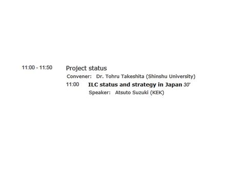 HEPResearchers Set-up JLCB and JLCC 20122013 2014 2015~6 Cite Decision Design ILC Lab. Japan Policy Council Positive Reference from New Prime Minister.