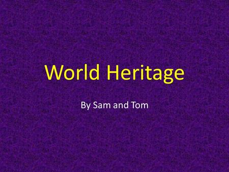 World Heritage By Sam and Tom. Central Amazon The year it was picked was in 2003. It's location is in Brazil in South America. The Central Amazon was.