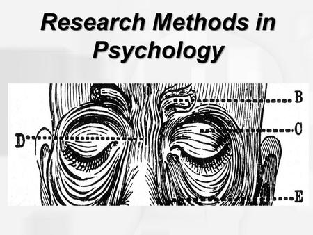 Research Methods in Psychology. Laboratory Field Internet Experimental Designs Randomization Manipulation Control Sample Population Independent Experimental.