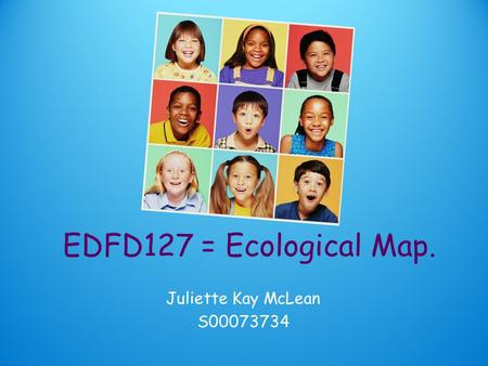 EDFD127 = Ecological Map. Juliette Kay McLean S00073734.