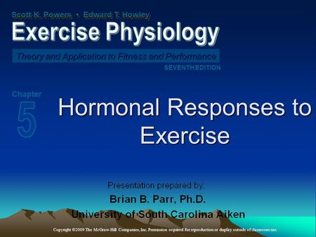 powers exercise physiologytheory and application to fitness and performance