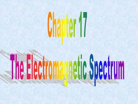 Section 2: Waves of the Electromagnetic Spectrum Objectives: list and compare different types of electromagnetic waves describe how the electromagnetic.