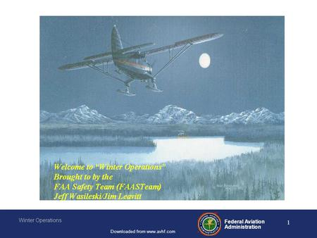 Federal Aviation Administration Winter Operations Downloaded from www.avhf.com 1.