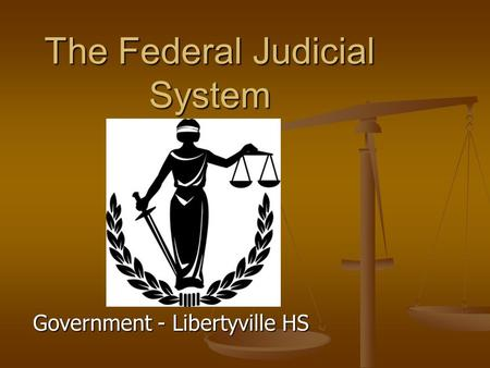 Government - Libertyville HS The Federal Judicial System.
