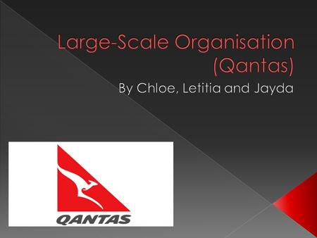 Qantas offers flying services from one destination to another. With over 30,000 employees  Total revenue: 15.9 billion  Net profit (after tax): 6 million.