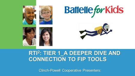 RTI 2 : TIER 1_A DEEPER DIVE AND CONNECTION TO FIP TOOLS Clinch-Powell Cooperative Presenters: