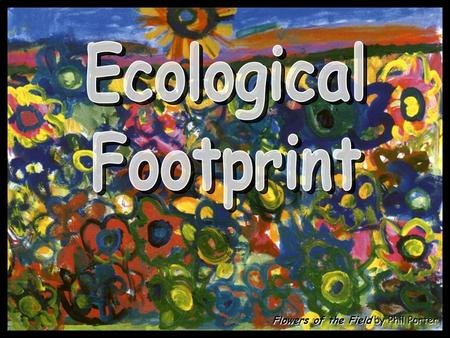 Flowers of the Field by Phil Porter. Ecological Footprint: The area of land and water ecosystems required to produce resources that the population consumes,