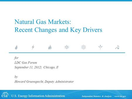 Www.eia.gov U.S. Energy Information Administration Independent Statistics & Analysis Natural Gas Markets: Recent Changes and Key Drivers for LDC Gas Forum.
