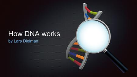 How DNA works by Lars Dielman. Deoxyribonucleic Acid DNA for short Helix-like structure that makes up all living things DNA molecule is made up of six.