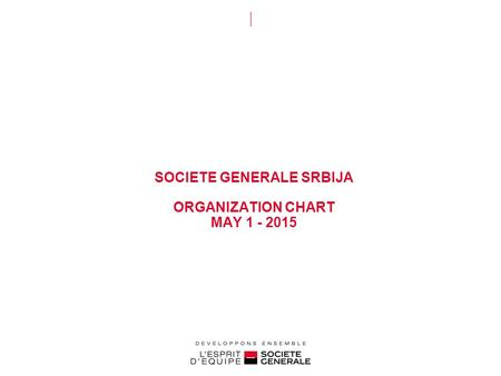 SOCIETE GENERALE SRBIJA ORGANIZATION CHART MAY 1 - 2015.