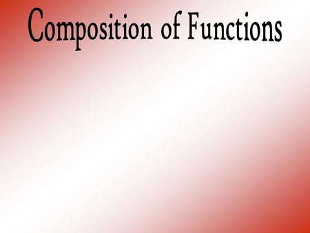  Find the indicated values for the following functions if: 