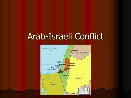Arab-Israeli Conflict. Palestine/Israel Land Claims Jews claim the land (3,000 years ago, Jewish kings ruled Jerusalem) Jews claim the land (3,000 years.