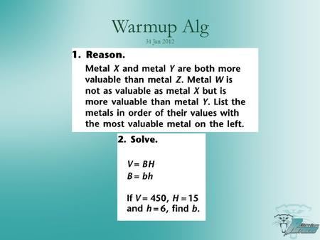 "Warmup Alg 31 Jan 2012. Agenda Don't forget about resources on mrwaddell.net Section 6.4: Inverses of functions Using ""Composition"" to prove inverse Find."