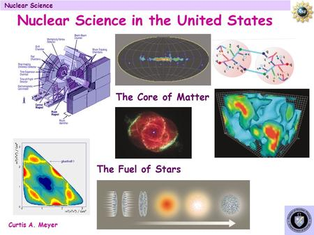 Curtis A. Meyer Nuclear Science in the United States The Core of Matter The Fuel of Stars.