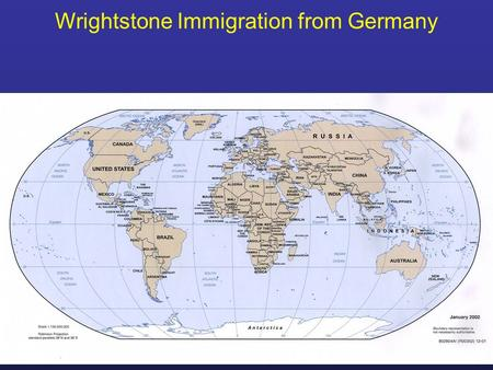 Wrightstone Immigration from Germany. Original Family name was Richstein.