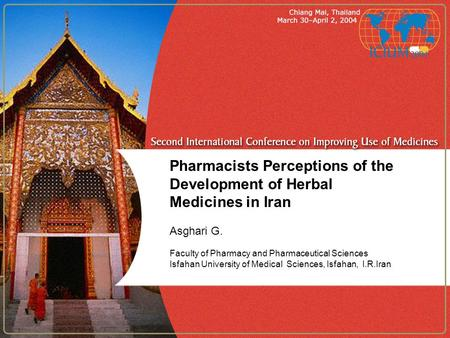Pharmacists Perceptions of the Development of Herbal Medicines in Iran