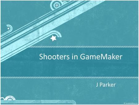 Shooters in GameMaker J Parker. Scrolling Shooter In a scrolling shooter the player controls an object, for example a plane, spaceship, or car, which.