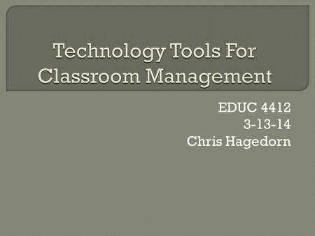 EDUC 4412 3-13-14 Chris Hagedorn.  Socrative is a system for obtaining and managing student responses while engaging the class in fun activities, games,