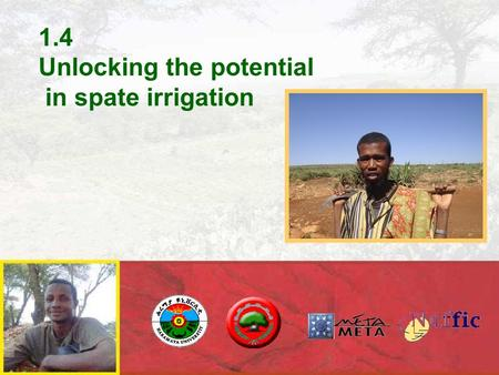 1.4 Unlocking the potential in spate irrigation.