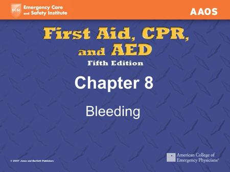 Chapter 8 Bleeding. External Bleeding Blood coming from an open wound Hemorrhage A large amount of bleeding in a short time.