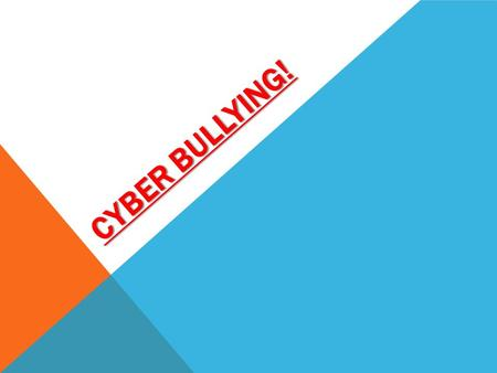 CYBER BULLYING!. WHAT IS CYBER BULLYING? Cyber bullying affects many adolescents and teens on a daily basis. Cyber bullying involves using technology,