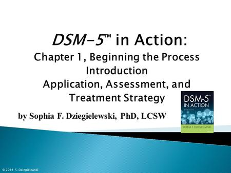 DSM-5 ™ in Action: Chapter 1, Beginning the Process Introduction Application, Assessment, and Treatment Strategy by Sophia F. Dziegielewski, PhD, LCSW.
