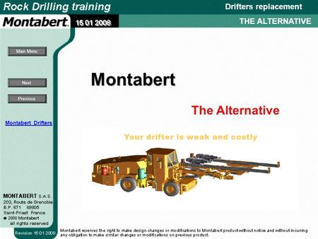 The Alternative Next Main Menu Previous Drifters replacement THE ALTERNATIVE Montabert Montabert Drifters.