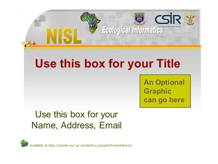 Available at  Use this box for your Title Use this box for your Name, Address,  An Optional.