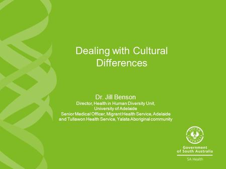 Dealing with Cultural Differences