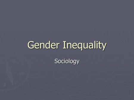 How gender influences health inequalities.