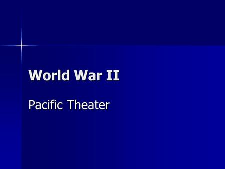 World War II Pacific Theater. The Pacific Theater 1942 Japan took Guam, Wake Island, Hong Kong, Singapore, Burma, Dutch East Indies, and the Philippines.