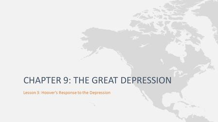 Chapter 9: The Great Depression
