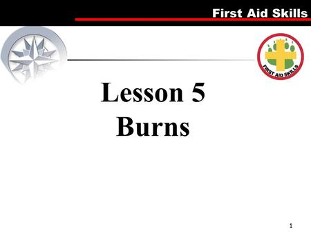 First Aid Skills 1 Lesson 5 Burns. First Aid Skills Video Viewing: First Aid - Burn 2.
