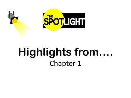 Highlights from…. Chapter 1. Chapter 1 Word Wall P.L. 94-142 IDEA inclusion Natural environment NCLB.