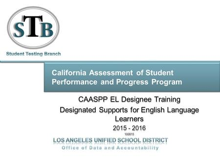 California Assessment of Student Performance and Progress Program