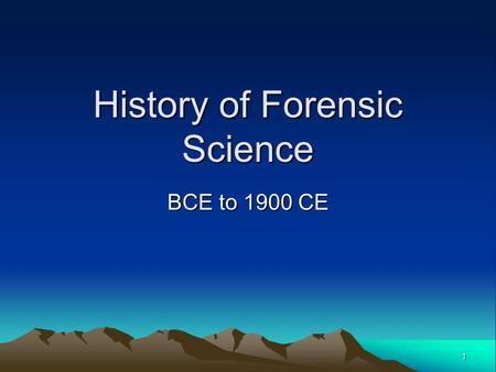 history forensic science My washington post colleague spencer hsu continues his great reporting on the continuing crisis in the world of forensic science over the weekend, hsu broke the story that justice.