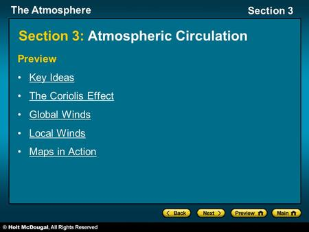 Section 3: Atmospheric Circulation