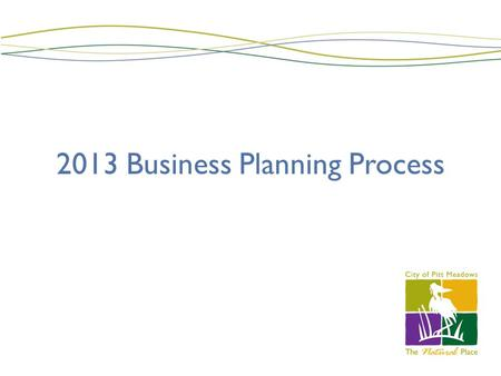 2013 Business Planning Process. Business Planning - 2013 Process Guidelines Budget Preparation Preparation of Business Plans Management Review Presentations.