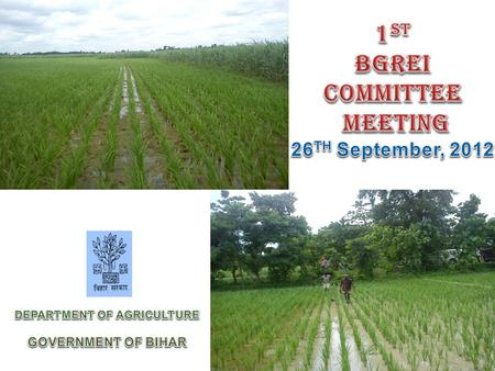 Achievements 2011-12 Record production of Rice & Wheat (Lakh MT)