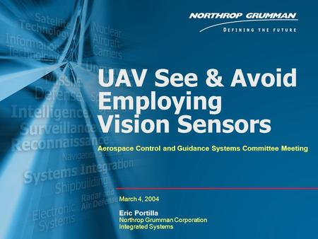 UAV See & Avoid Employing Vision Sensors