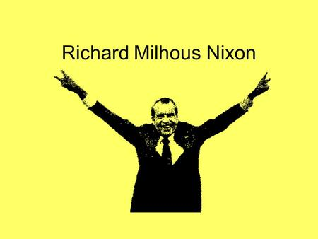 Richard Milhous Nixon. Vietnam Nixon inherited the issue of Vietnam from LBJ. His promise to the American people was to pull all American troops out.